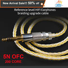 Earphone Gold Silver Mixed plated upgrade cable Wire 2 PIN0.75/MMCX for SE846 KZ