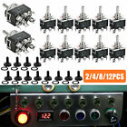 Waterproof 6pin DPDT Momentary Toggle Switch Boot Cap ON/OFF/ON Amp 15A 380V