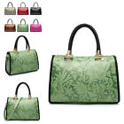 Ladies Embossed Bowler Handbag Floral Shoulder Bag Girls Day Box WAG Bag MA36369