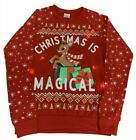 """Rudolph Light Up """"Christmas is Magical"""" Sweatshirt Ugly Sweater Women's XS, M"""
