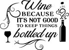 Kitchen Wine Wall Art Sticker Home Decor, Quality Decal Quotes