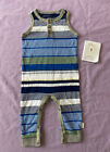 Burts Bees Organic cotton baby boys' Sleeveless romper blue
