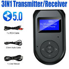 Bluetooth 5.0 Transmitter Receiver 3IN1 Wireless Audio 3.5mm USB Adapter For TV