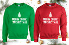 Merry Drunk I'm Christmas Jumper, Funny Christmas Crazy Xmas Ugly Unisex Top