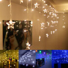 Christmas LED Curtain Window Star Style String Fairy Lights Waterproof Lighting