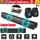 USB Powered PC Computer Speakers Portable Stereo Soundbar for Laptop Desktop Mac