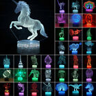 3D Illusion Desktop Lamp Table Decor LED Night Lamps 7 Colour Change Xmas