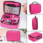 Pink Black Color Makeup Bag Cosmetic Case Large Capacity Travel Organizer Bags