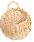 Wall Fence Hanging Planter Plant Flower Pots Handmade Rattan Basket Garden Xmas