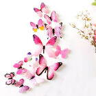 12 Pcs 3d Butterfly Decal Wall Stickers Home Decorations Sticker Bedroom Living