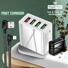 3 Pin Plug Fast Wall Charger Adapter 30W Quick Charge QC 3.0 USB Hub For Iphone