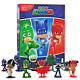 Disney Juniors PJ MASKS BUSY BOOK 10 Figures Toys + Play Mat 3+ Years Brand New