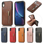 Slim Leather Case Card Slot Zipper Cover For Iphone 11 Pro Xs Max Xr X Se 6s 7 8