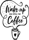 Kitchen Smell The Coffee Wall Art Sticker Home Decor Quality Diy Decal Quotes