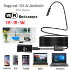 For Samsung Galaxy S7/ 1/3/5m WIFI 8LED IP67 Endoscope 8MM HD Inspection Camera