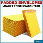PADDED BUBBLE ENVELOPES POSTAL MAILERS BAGS WRAP GOLD ALL SIZES VARIOUS QTY'S
