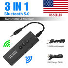 Bluetooth 5.0 Transmitter Receiver 3 IN 1 Wireless Audio 3.5mm Aux Jack Adapter