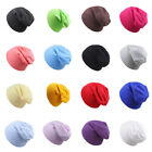 Baby Hip Hop Hat Boys Girls Knitted Cap Winter Warm Kids Solid Color Beanie Hat
