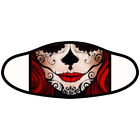 Sugar Skull Unisex Double Layer Face Mask Reusable Washable Day of the Dead