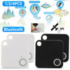 2/4x GPS Tracker Anti-Lost Bluetooth For Pet Dog Cat Keys Wallet Bag Kids Finder