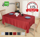 """60x84"""" Tablecloth Rectangle Washable Waterproof Polyester For Holiday Party"""