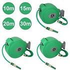 10 15 20 & 30M Auto Retractable Wall Mounted Water Hose Reel Watering Spray Tool