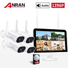 """ANRAN 1080P WiFi Camera Security System Outdoor CCTV 13""""Monitor 1TB Home Audio"""