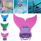 Kids Mermaid Fin Mermaid Monofin Tail Flipper Swimwear Swiming Cosplay Child