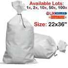 WHITE WOVEN (WPP) HEAVY DUTY DURABLE REUSABLE RUBBLE BAGS/SACKS* Size: 22 x 36