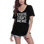 ULTRABASIC Women's T-Shirt Excuse the Mess But I Craft Here - Short Sleeve Tee S