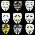 Anonymous Hacker V Vendetta Guy Fawkes Fancy Dress Face Mask Cosplay Prop