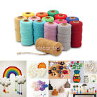 Woven 109 Yards String Cotton Rope Macrame Cord Braided Twisted DIY Crafts