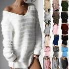 Women Long Sleeve Knitted Sweater Winter Warm Casual Baggy Jumper Pullover Tops