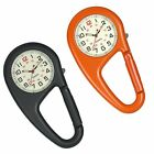 Clip-on Quartz Watch Backpack Fob Watch Luminous Arabic Numeral Carabiner Watch
