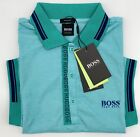 Hugo Boss Polo Men Cotton stretch Fabric Regular fit color Sea Green