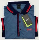 Hugo Boss Polo Men Cotton stretch Fabric Regular fit color Dark Teal