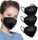 Black Disposable Face Mask KF94 4 Layers Earloop Cover Filters 94 PFE & BFE