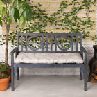 Quilted Garden Bench Pad Outdoor Fabric 2 Seater Furniture Swing Seat Cushion