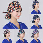Surgical Scrub Cap Doctor Nurse Bouffant Hat Adjustable Head Hat With Button