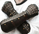 Medieval PU Leather Rivet Arm Wrist Wide Cuffs Bracers Warrior Gauntlet Glove
