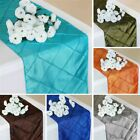 "25 PINTUCK TAFFETA 12x108"" Table RUNNERS Wholesale Wedding Party Supplies SALE"