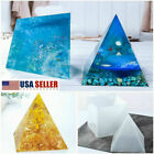 US Large 15cm Pyramid Shape DIY Silicone Mould Resin Epoxy Casting Jewelry Molds