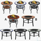 Garden Fire Pit BBQ Mosaic Table Outdoor Patio Heater Barbeque Firepit Table NEW