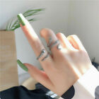 US Womens Girls 925 Sterling Silver Snake Opening Adjustable Ring Jewellery Gift
