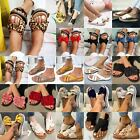 Womens Open/Ring Toe Flip Flops Slides Sandals Ladies Slippers Shoes Size 6-10.5
