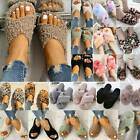 Womens Fluffy Open Toe Slide Fuzzy Fur Slippers Flat Sandals Holiday Home Shoes
