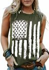 Umsuhu 4th of July Tank Tops Shirts for Women American US Flag Graphic Patriotic