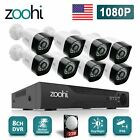 Zoohi 1080P Home Security Camera System 8CH AHD 2MP CCTV Wired 1/2TB Hard Drive