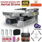 4K HD Mini Drone Dual Camera WIFI FPV Foldable 3 Batteries Selfie RC Quadcopter