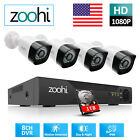 Home Security Camera System 1080P HDMI 8CH CCTV DVR 2MP HD Outdoor IR 1TB HDD HD